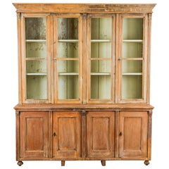 1900s Central European Wood Patinated Vitrine