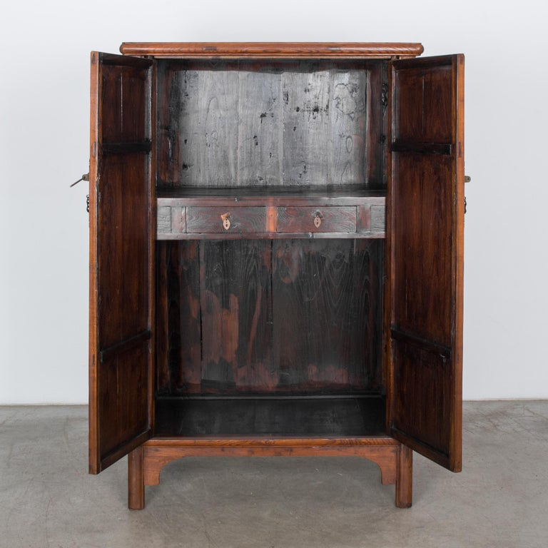 Early 20th Century 1900s Chinese Wooden Armoire For Sale
