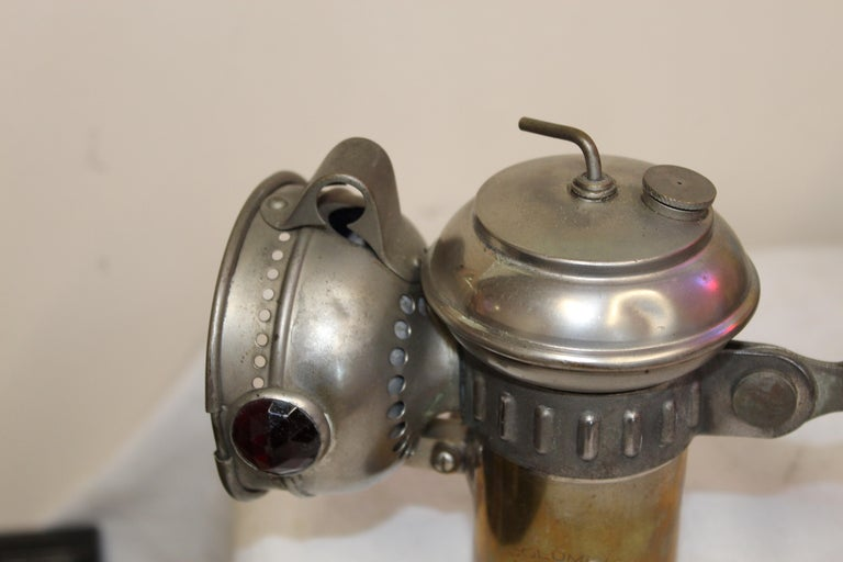 1900s Columbia Model C Carbide Motorcycle/Bicycle Lantern For Sale 4