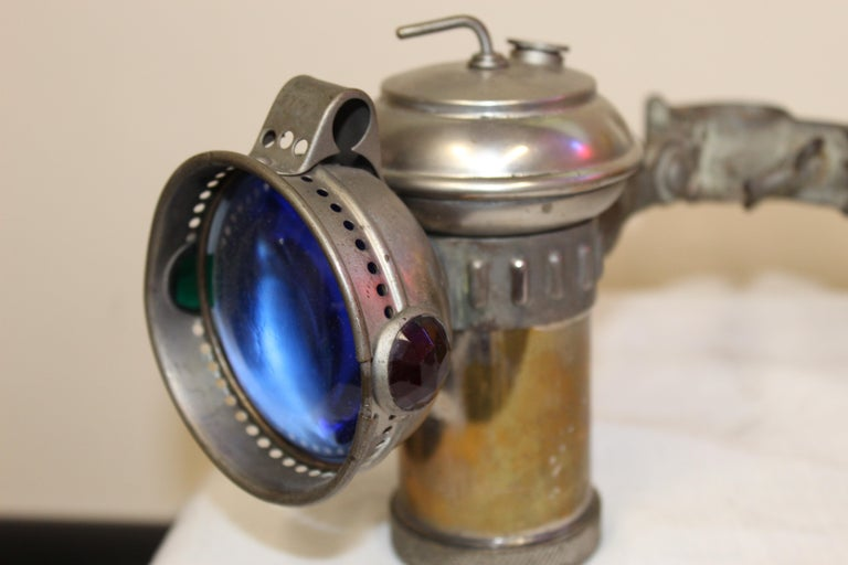 1900s Columbia Model C Carbide Motorcycle/Bicycle Lantern For Sale 8