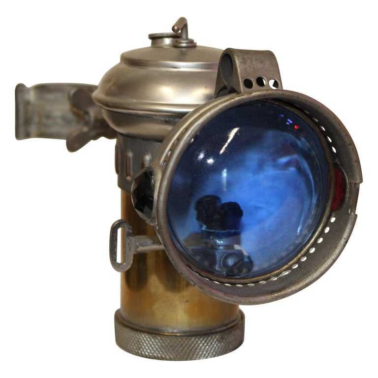 1900s Columbia Model C Carbide Motorcycle/Bicycle Lantern For Sale