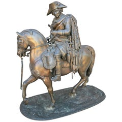 1900s Duke of Wellington on his Horse Copenhagen Bronze Figure Sculpture