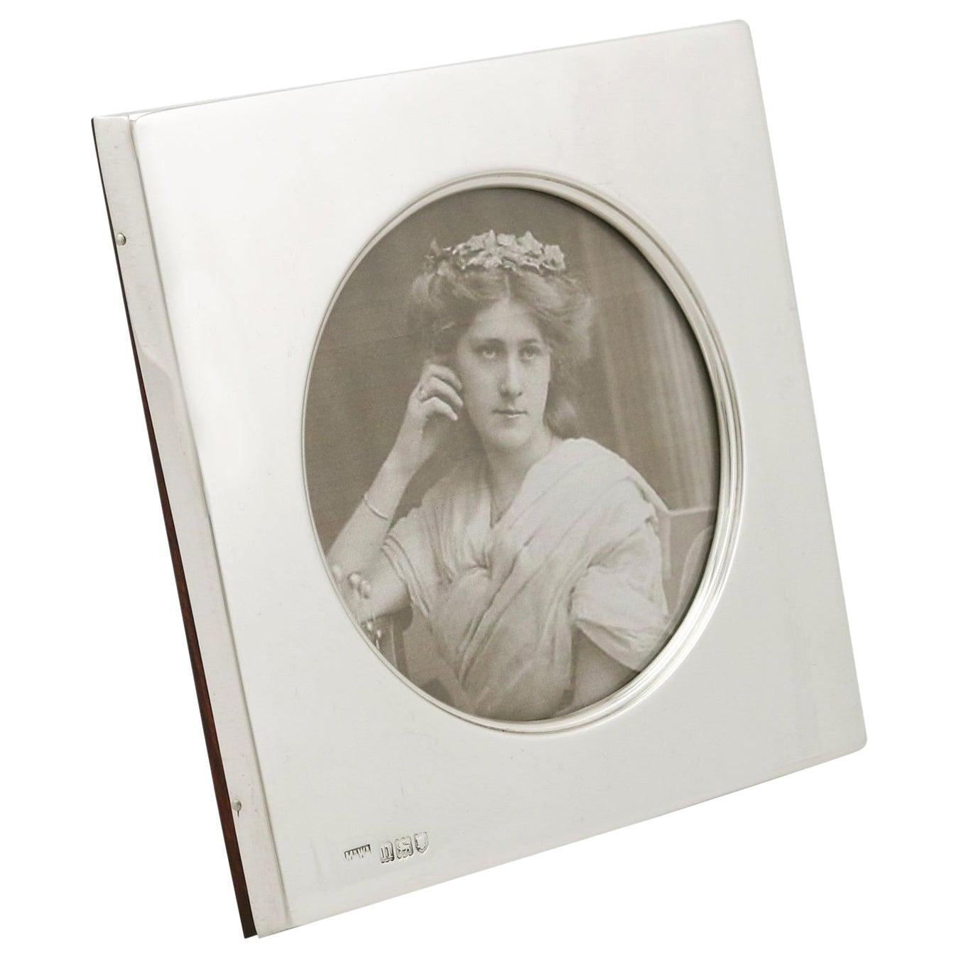 1900s Edwardian Sterling Silver Photograph Frame