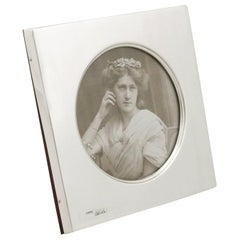 1900s Edwardian Sterling Silver Photograph Frame