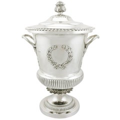 1900s Edwardian Sterling Silver Presentation Cup and Cover