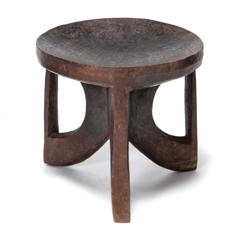 Hand-Carved 1900s Ethiopian Carved Tribal Stool