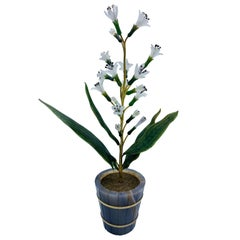 1900s Fabergé Flower in the Pot Decorative Object