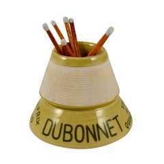 1900s French Bistro Match Strike and Holder, Dubonnet Liqueur Advertising