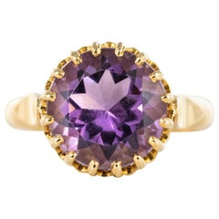 1900s French Gold Amethyst Ring