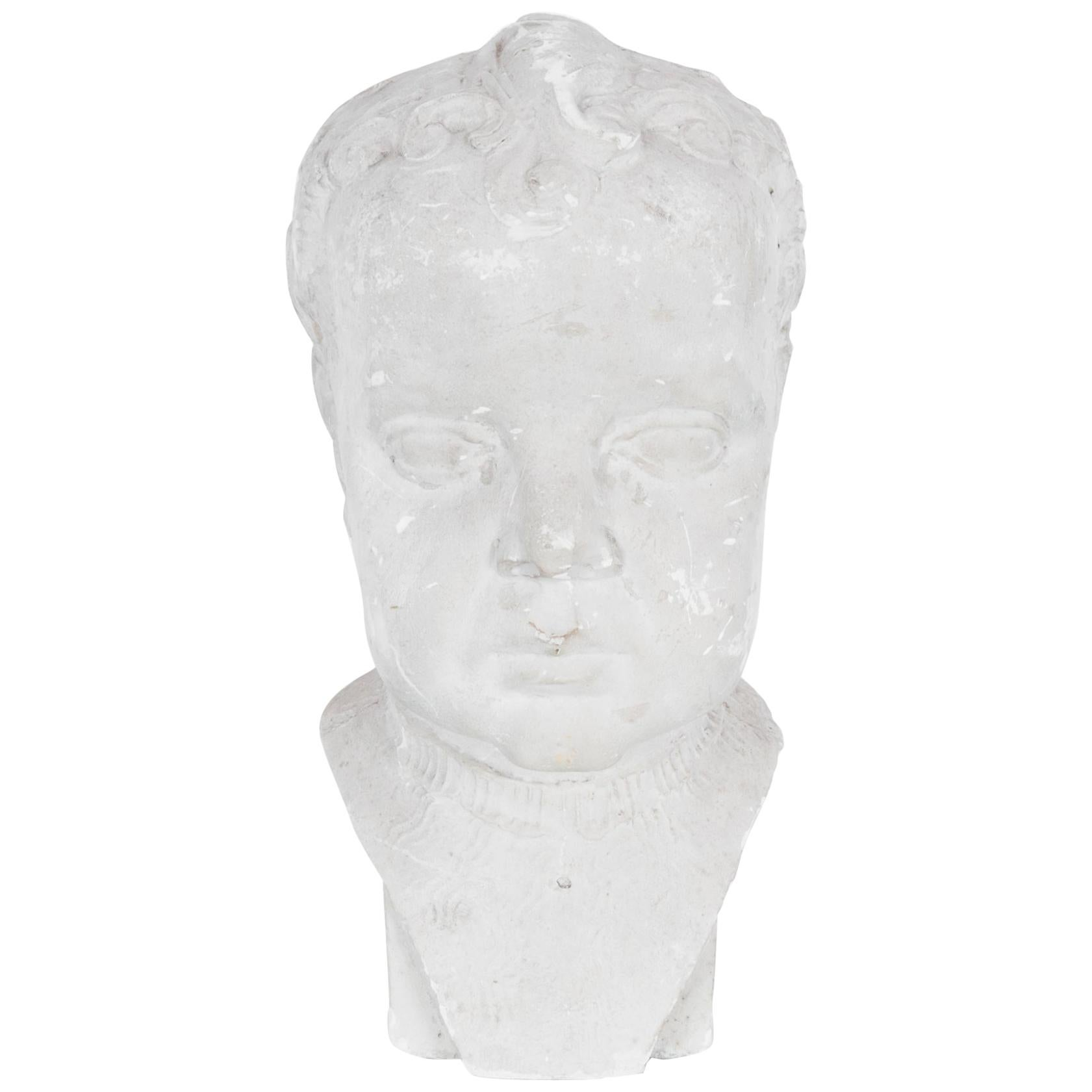 1900s French Plaster Bust