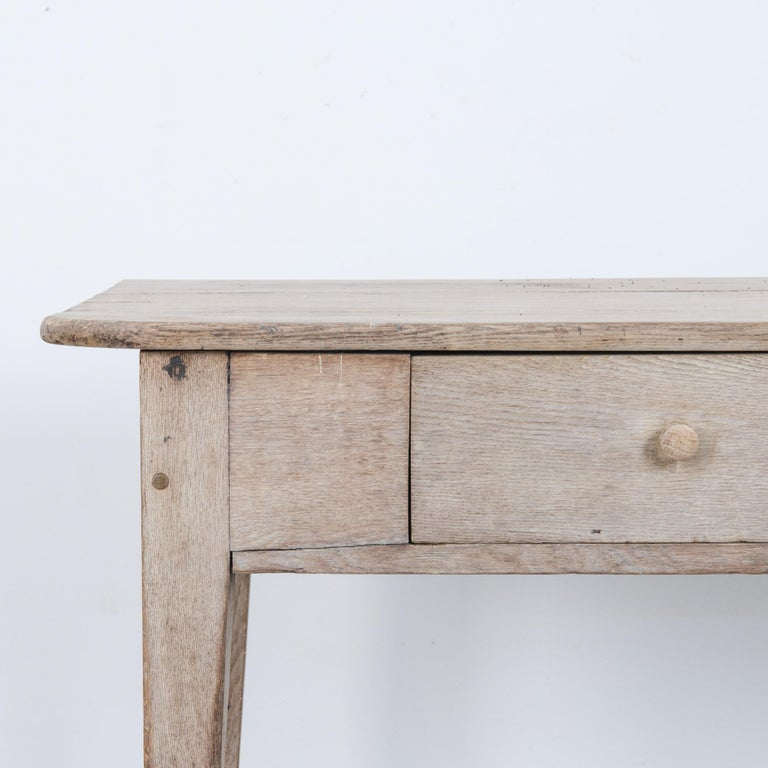 1900s French Two-Drawer Oak Table In Good Condition For Sale In High Point, NC
