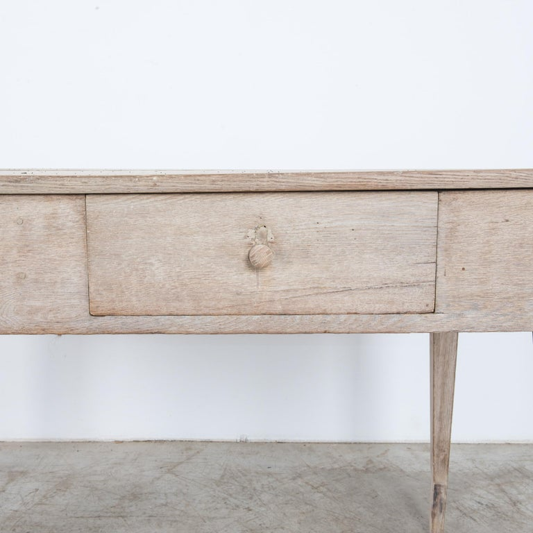 1900s French Two-Drawer Oak Table For Sale 1