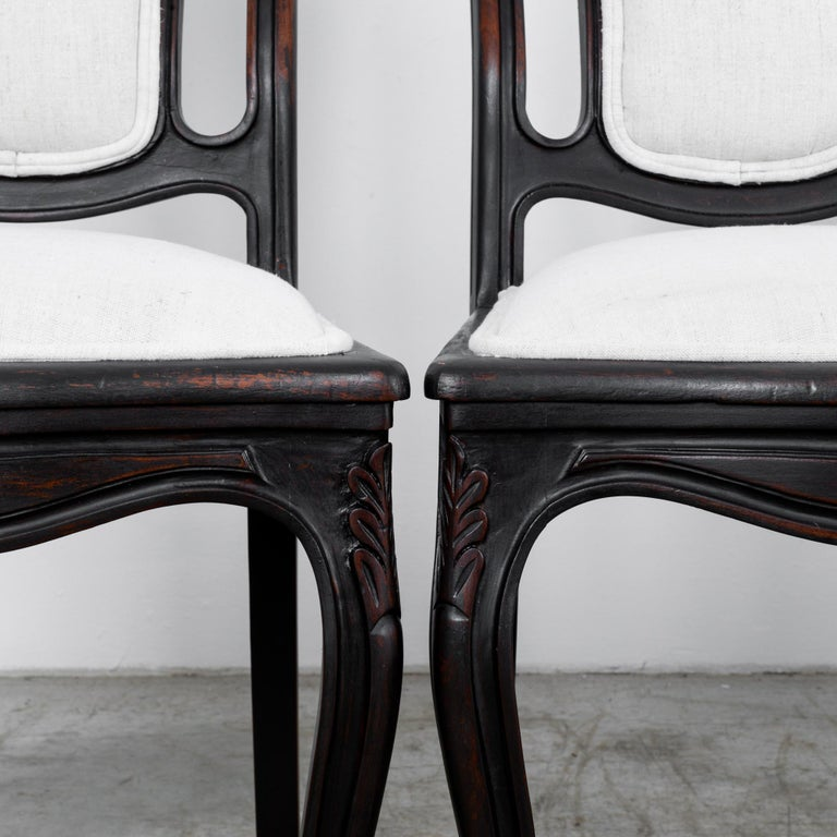 1900s French Upholstered Dining Chairs, Set of Six For Sale 4