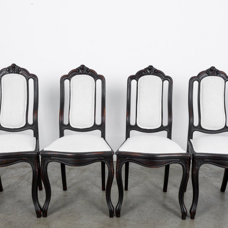 1900s French Upholstered Dining Chairs, Set of Six In Good Condition For Sale In High Point, NC