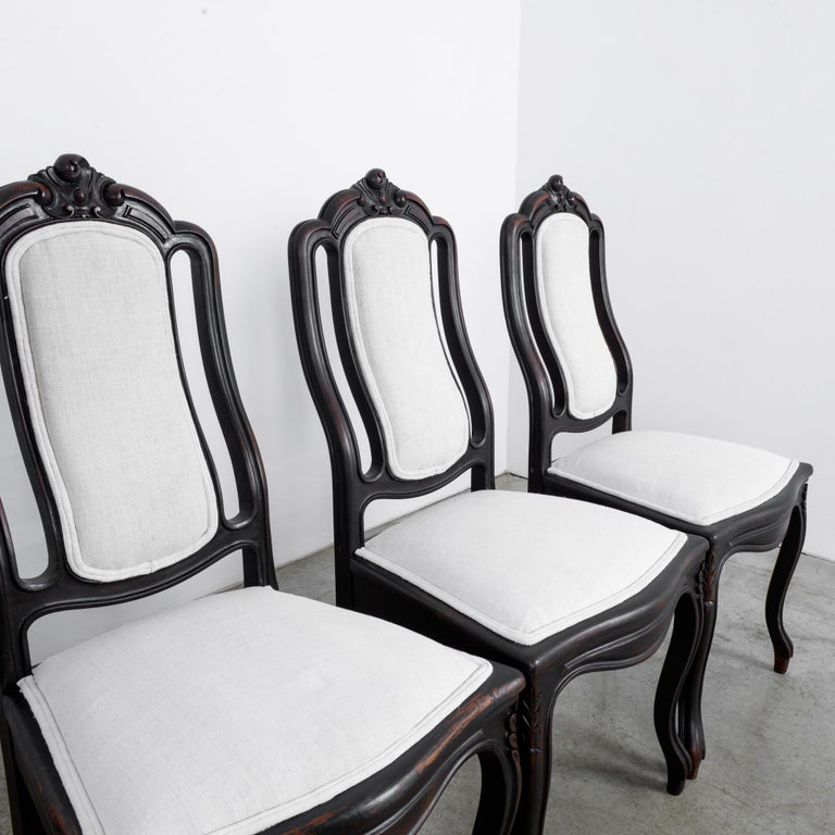 19th Century 1900s French Upholstered Dining Chairs, Set of Six For Sale