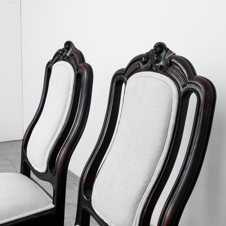 1900s French Upholstered Dining Chairs, Set of Six For Sale 1