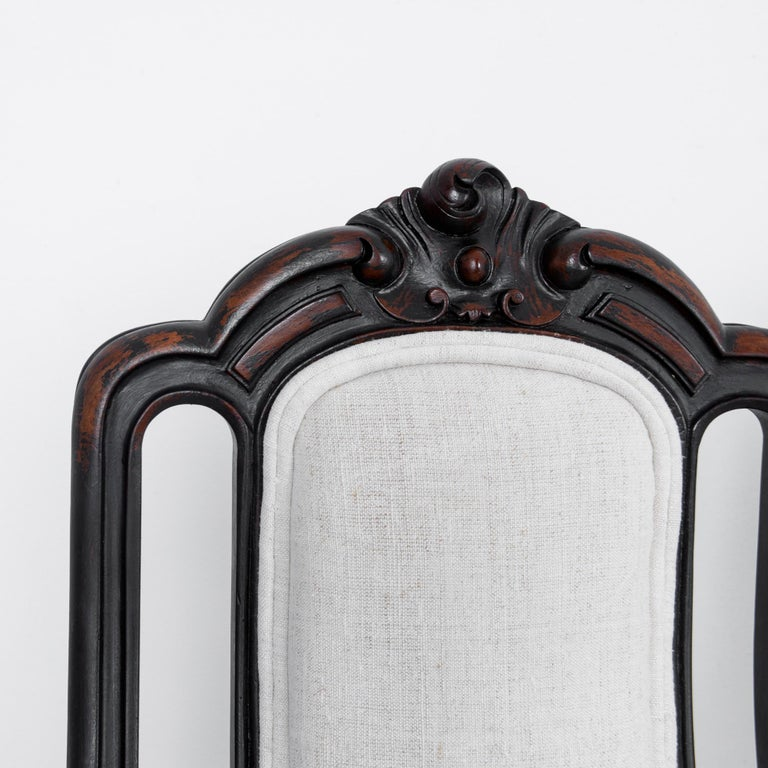 1900s French Upholstered Dining Chairs, Set of Six For Sale 2