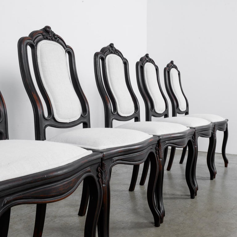 1900s French Upholstered Dining Chairs, Set of Six For Sale 3