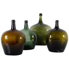 1900s French Wine Demijohns, Set of Four
