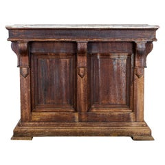 1900s French Wood Patinated Bar