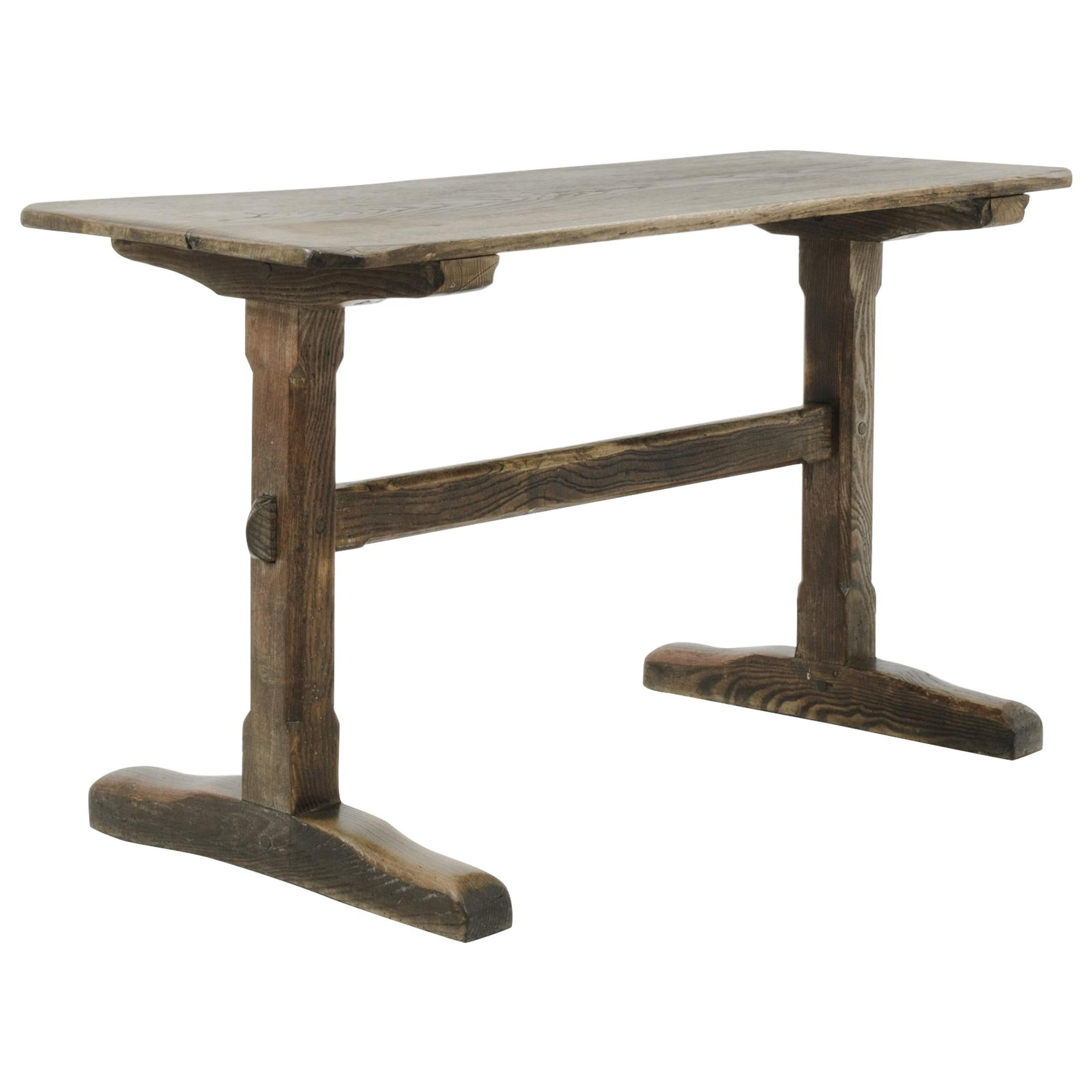 1900s French Wooden Bistro Table
