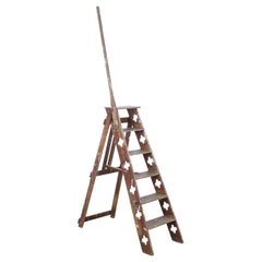 1900s French Wooden Ladder