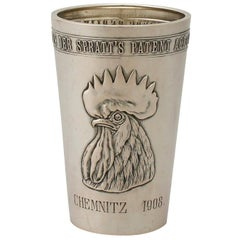 1900s German Silver Beaker