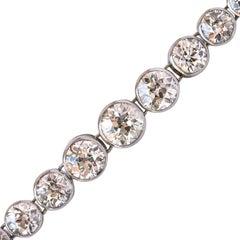 1900s Maison Auger 22 Carat Diamond Platinum Bracelet