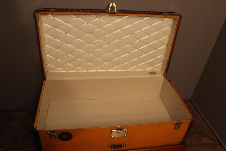 1900s Orange Canvas Louis Vuitton Steamer Trunk 5