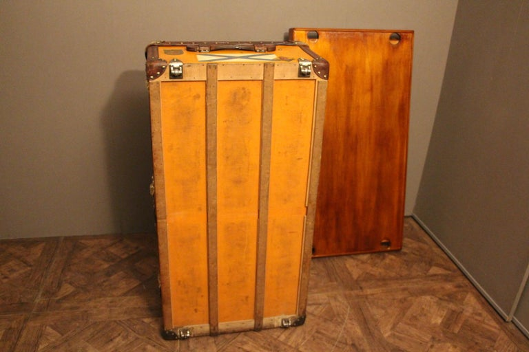 1900s Orange Canvas Louis Vuitton Steamer Trunk 9