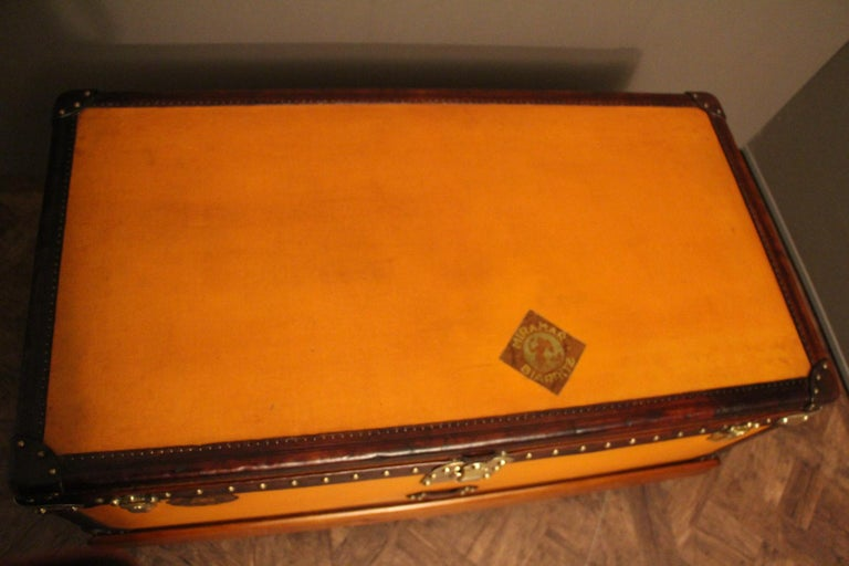 Early 20th Century 1900s Orange Canvas Louis Vuitton Steamer Trunk