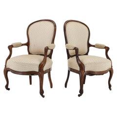 1900s Pair of Original Danish Rococo Chairs