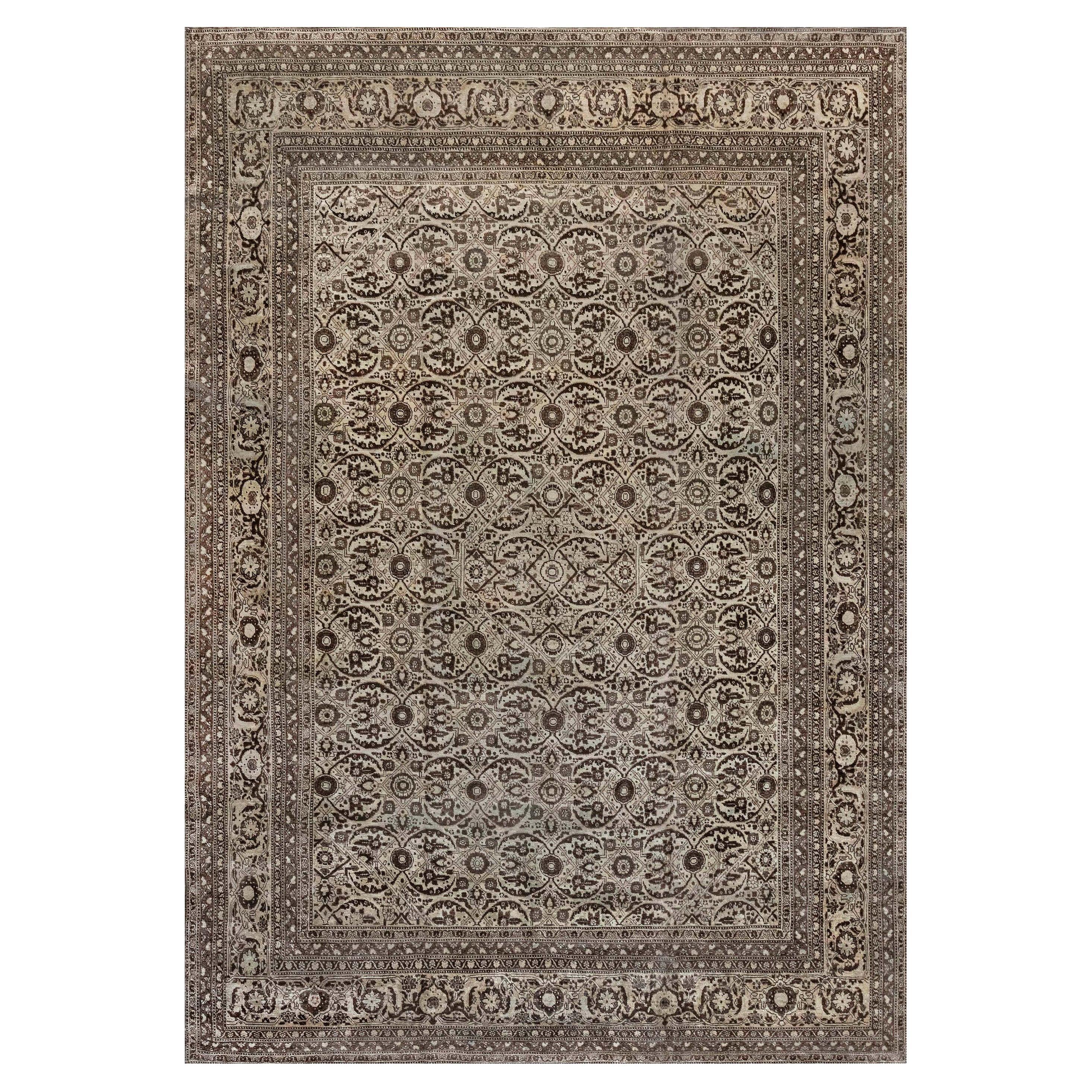 1900s Persian Tabriz Handmade Carpet