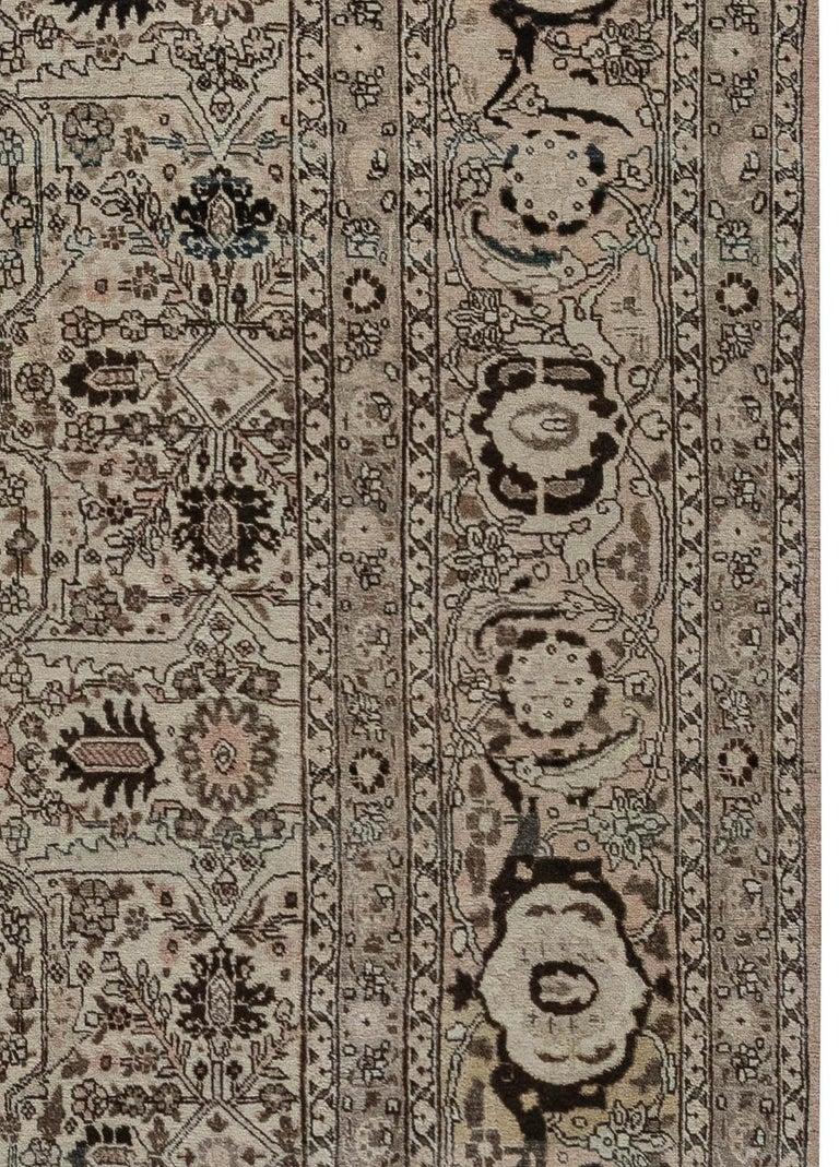 20th Century 1900s Persian Tabriz Handmade Wool Carpet For Sale