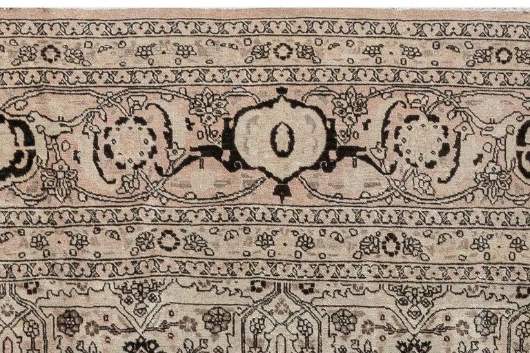 1900s Persian Tabriz Handmade Wool Carpet For Sale 1