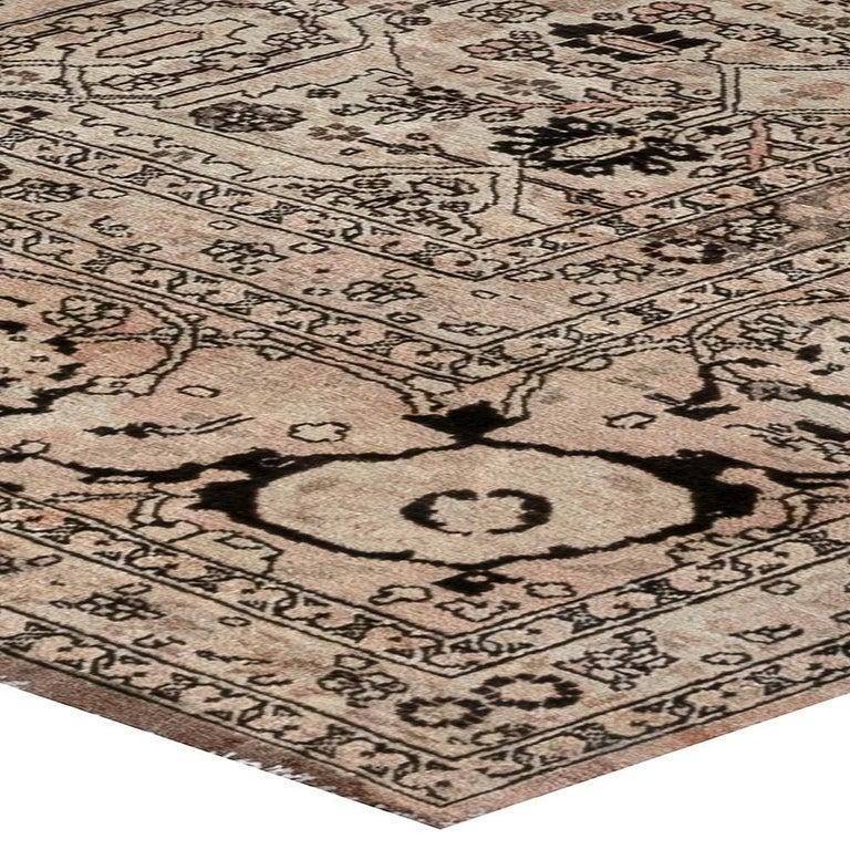 1900s Persian Tabriz Handmade Wool Carpet For Sale 3