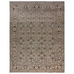1900s Persian Tabriz Handmade Wool Carpet