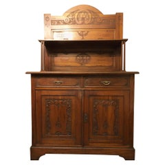 1900s Sideboard Solid Cherry Liberty Style Original Tuscany, Italian