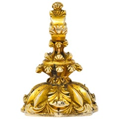 1900s Victorian Bloodstone Intaglio 14 Karat Gold Pheasant Fob Pendant