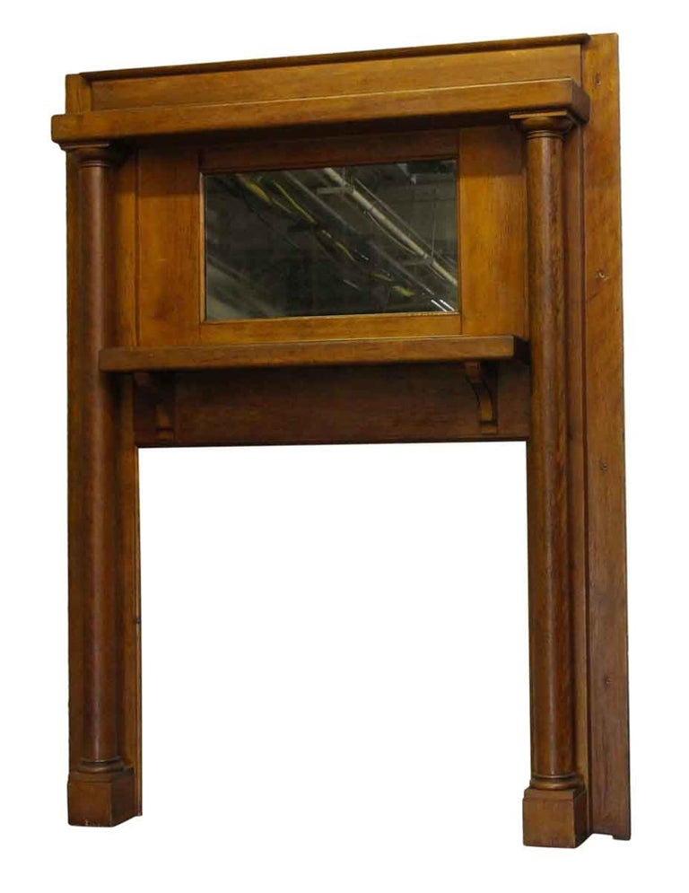 1901 Arts And Crafts Transitional Wooden Red Birch Mantel