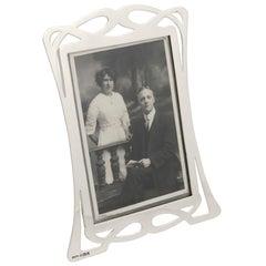 1903 Antique Edwardian Sterling Silver Photograph Frame Art Nouveau, 1903