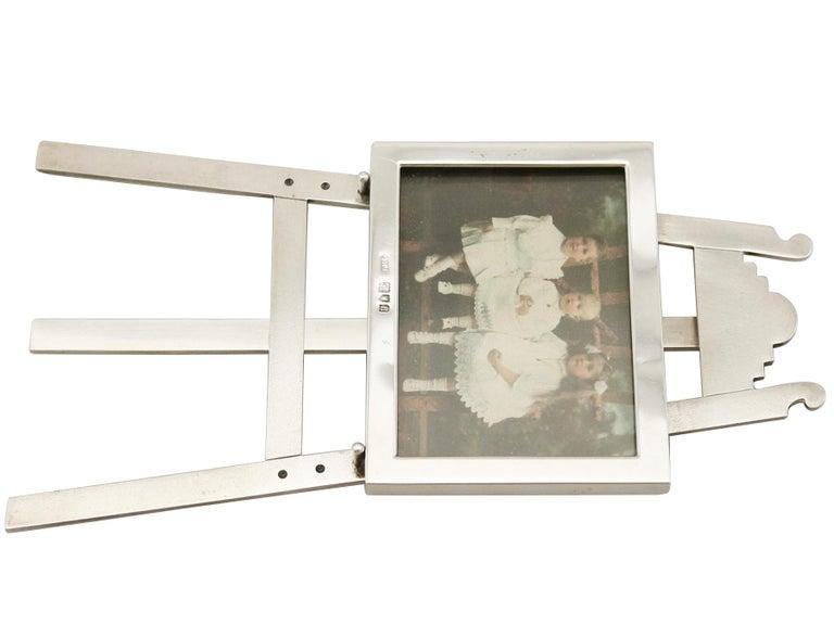1903 Antique Edwardian Sterling Silver Photograph Frame For Sale 1