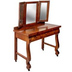 1903 Marvel Bevelled Three Mirror Oak Vanity