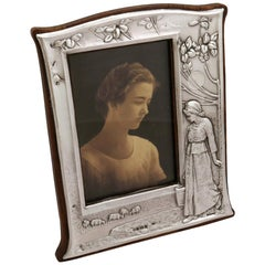 1904 Antique Edwardian Sterling Silver Photograph Frame
