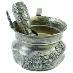 1904 Silver Plate Shaving Mug and Brush