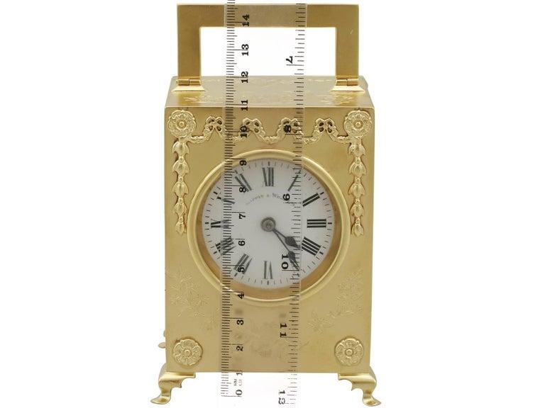 1905 Antique Edwardian Sterling Silver Mantel Clock For Sale 10