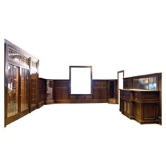 1905 Dark Oak Paneled Dining Room