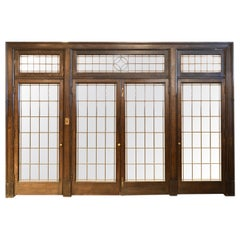 1905 Dark Oak Transom Four Door Unit