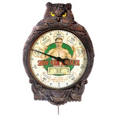 1906 Mills Novelty Owl Strength Tester Scale