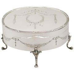 1906 Sterling Silver Jewelry or Trinket Box by Goldsmiths & Silversmiths Co Ltd